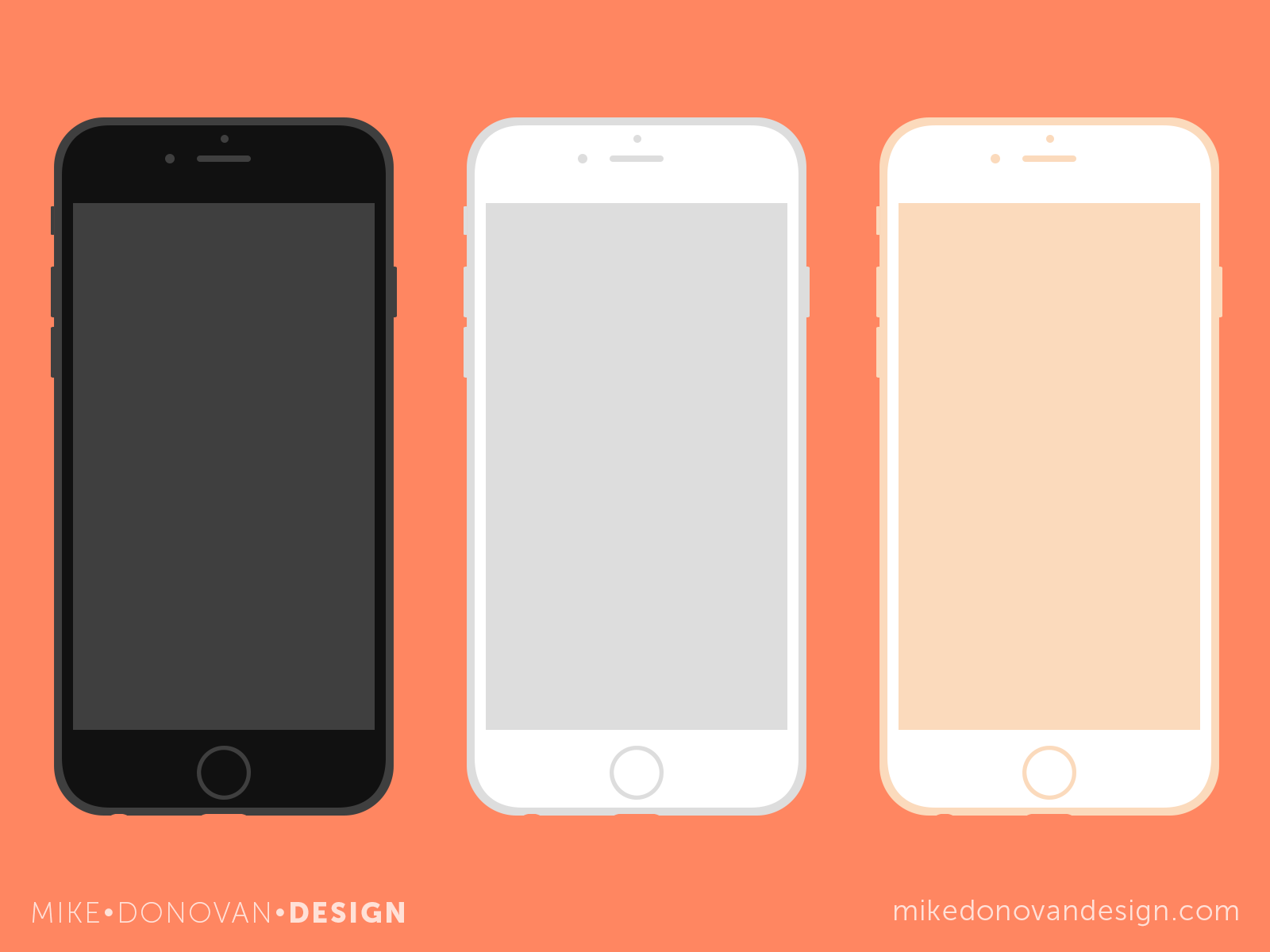 Mike Donovan Design | iPhone 6 Flat Vector Mockups